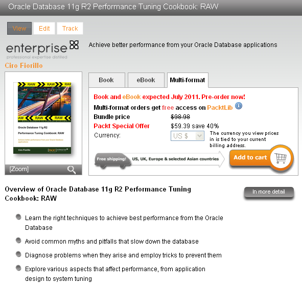 Oracle Database 11g R2 Performance Tuning Cookbook Book Page