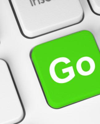 Go green button on keyboard